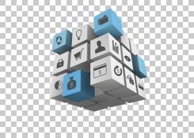 立方体信息图表三维空间,立方体设计PNG剪贴画蓝色,角度,3D计算机