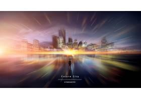 高铁光速相关的创意概念海报素材