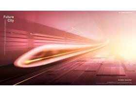 光速高铁创意概念海报