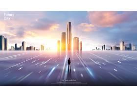 城市智能交通发展海报