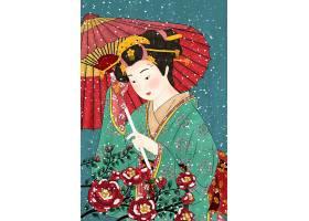 看花的日本女人
