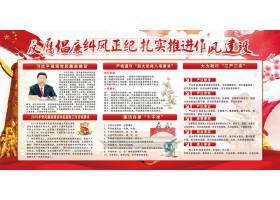 创意红色文化反腐倡廉海报展板