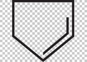 黑白色图案,本垒板的PNG剪贴画角度,白色,矩形,三角形,单色,黑色,
