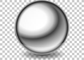 钢金属球,金属球的PNG剪贴画角度,单色,球,球轴承,拉丝金属,材料,