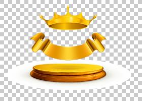 黄金股票摄影股票皇冠,金色丝带和皇冠PNG剪贴画功能区,奖牌,封装图片