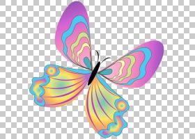 蝴蝶,彩绘蝴蝶,多彩多姿的蝴蝶PNG剪贴画刷脚蝴蝶,对称性,设计,产图片