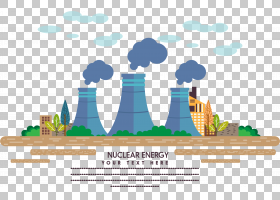 核电站工厂工业,新能源材料PNG剪贴画建筑,文本,环境保护,新的一