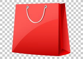 可重复使用的购物袋纸红色手提包,红色购物袋PNG剪贴画矩形,购物