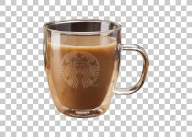 咖啡杯咖啡牛奶玻璃热巧克力,比例材料星巴克杯PNG剪贴画玻璃,摄图片
