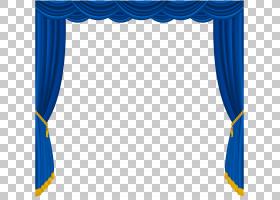 窗帘,透明蓝色窗帘装饰,蓝色窗帘框架PNG剪贴画角度,室内设计,纺图片