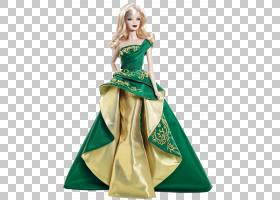 芭比娃娃假日礼服连衣裙,芭比娃娃PNG剪贴画女孩,时装模特,礼服,图片