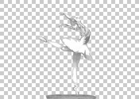 芭蕾舞短裙素描,芭蕾舞PNG剪贴画手,单色,芭蕾舞者,时尚插画,女孩图片