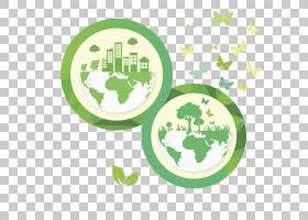 地球环保,创意地球PNG剪贴画叶,文本,手,回收,城市,创意图稿,徽标