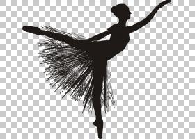 芭蕾舞者,芭蕾舞PNG剪贴画白色,摄影,单色,黑色,侧影,芭蕾舞鞋,表图片
