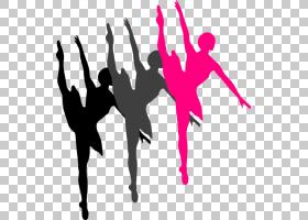 芭蕾舞者剪影,Pom Dancers的PNG剪贴画免费舞蹈,表演艺术,粉红色,图片