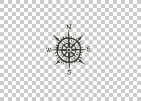 指南针玫瑰红衣主教方向墙贴花,指南针PNG剪贴画角,白,TECHNIC,对
