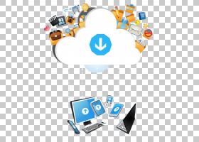 云计算技术应用软件,云计算技术时代PNG剪贴画蓝色,计算机网络,文