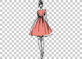 时装模特服装,手绘模型PNG剪贴画水彩画,名人,白,手,摄影,时尚,快图片
