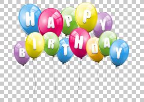气球,透明气球生日快乐,什锦,彩色气球PNG剪贴画文字,封装的PostS图片