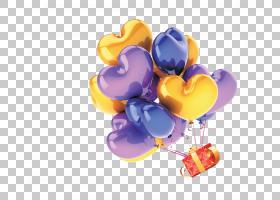 气球礼品购物,桃浮动气球PNG剪贴画紫色,功能区,心,海报,电脑壁纸