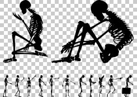 人体骨骼骨欧几里德,AC姿势剪影人体骨骼PNG剪贴画角,手,人类,脚,图片