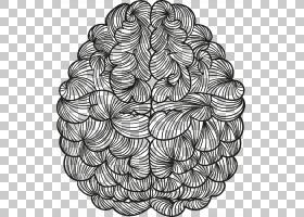 人类大脑Agy Euclidean贴纸,手绘抽象脑PNG剪贴画水彩画,手,人,对图片