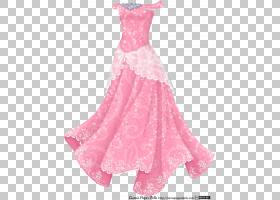 连衣裙礼服服装女孩,礼服PNG剪贴画时尚,洋红色,少女女孩,公主,衬图片