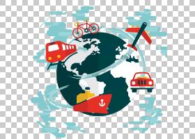 旅行,全球旅行城市剪影横幅材料PNG剪贴画徽标,生日快乐矢量图像,图片
