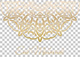 伊斯兰教,伊斯兰金色图案的海报,开斋节穆巴拉克标志PNG剪贴画白