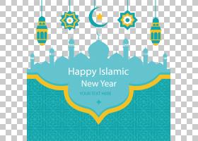 伊斯兰新年穆斯林开斋节开斋节穆巴拉克,绿色教堂教堂海报,伊斯兰