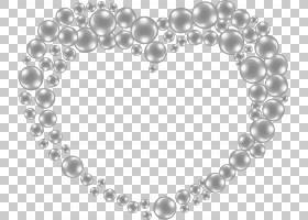 珍珠,手绘心形珍珠PNG剪贴画爱,手,心,生日快乐矢量图像,形状,手图片