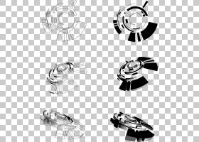 圆欧几里德技术,酷技术元素PNG剪贴画杂项,徽标,单色,生日快乐矢