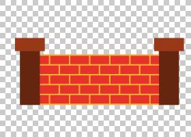 砖墙壁板,砖墙材料PNG剪贴画角度,文本,矩形,橙色,生日快乐矢量图图片