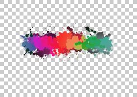 威尼斯双年展艺术家驻场艺术展,颜色飞溅油漆PNG剪贴画水彩画,飞