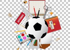 学校用品,足球PNG剪贴画铅笔,生日快乐矢量图像,运动器材,足球运图片