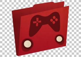 心长方形红色,游戏文件夹,黑色和红色游戏徽标PNG剪贴画游戏,矩形