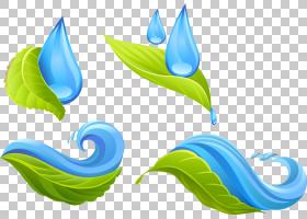 水滴,创意水PNG剪贴画蓝色,启动画面,叶,拖放,自然,徽标,环境保护