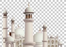 清真寺Kaaba Eid穆巴拉克开斋节,Fitr斋月,伊斯兰建筑在蓝色背景,