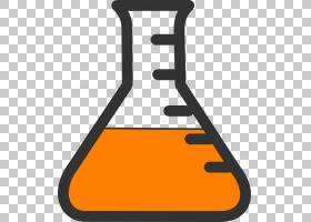 烧杯科学试管化学,酸s PNG剪贴画文本,橙色,实验,实验室,酸教具,