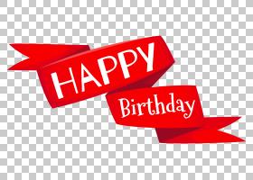 生日蛋糕祝愿,红色生日快乐横幅,生日快乐PNG剪贴画爱,文本,标签,图片