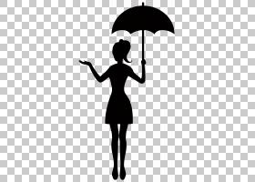 伞剪影股票摄影,有伞剪影的女孩透明,拿着伞PNG clipart的妇女剪图片