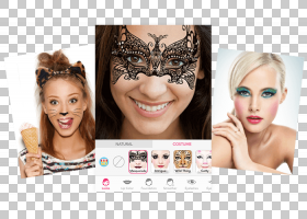 睫毛美容化妆品化妆YouCam,万圣节化妆PNG剪贴画脸,美容,化妆品,