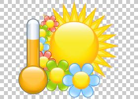 花春天,春天太阳与花,太阳与花和温度图PNG剪贴画水彩画,复活节彩