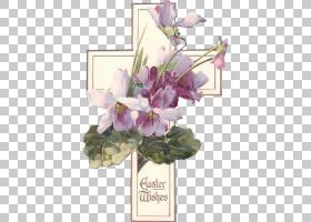 花艺设计切花艺术复活节,耶稣插图PNG剪贴画紫色,花卉安排,紫罗兰