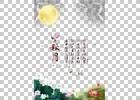 花艺设计粉红色的花朵图案,月亮画海报PNG剪贴画水彩画,插花,文本