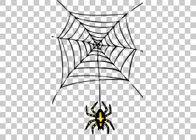 蜘蛛万圣节,万圣节蜘蛛透明PNG剪贴画白色,图像文件格式,假期,叶,