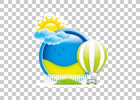 热气球,云和太阳热气球PNG剪贴画云,海报,气球,云计算,电脑壁纸,