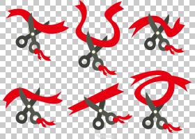 欧几里德,红丝带PNG剪贴画功能区,文本,节日元素,海报,剪刀,设计,