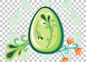欧几里德蛋,鸡蛋PNG剪贴画模板,框架,食品,叶,复古,破蛋,复活节彩