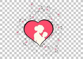 母亲节儿童,粉红色的心母亲节母亲的手臂儿童元素PNG剪贴画爱,文